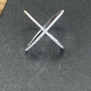 Sterling Silver Criss-Cross Ring 6
